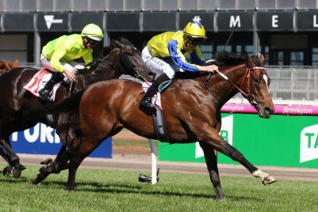 Extra Brut Extra Impressive in 2018 Victoria Derby Win
